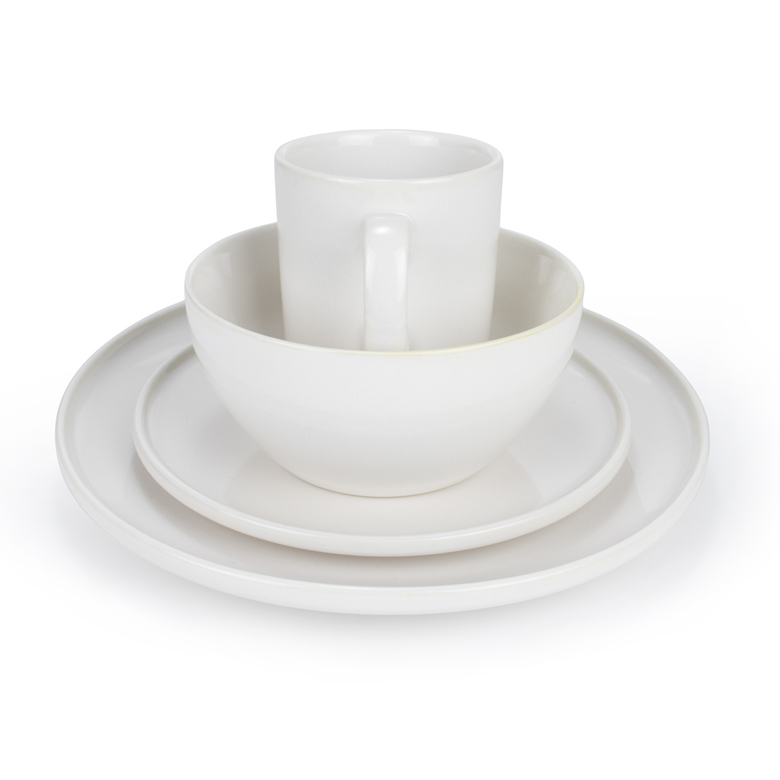 16PCS Dinnerware Dish Set(White