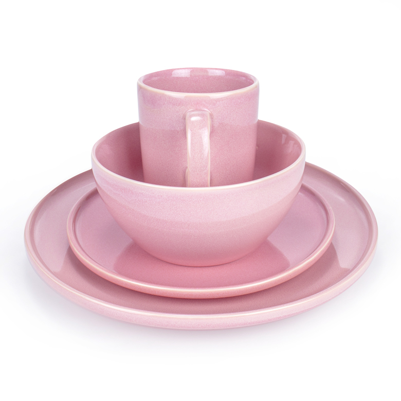 16PCS Dinnerware Dish Set(Pink)